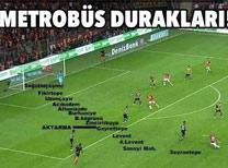 Galatasaray - Fenerbahçe derbisinde paylaşılan capsler