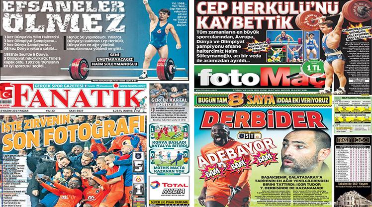 19 Kasım 2017 gazete manşetleri