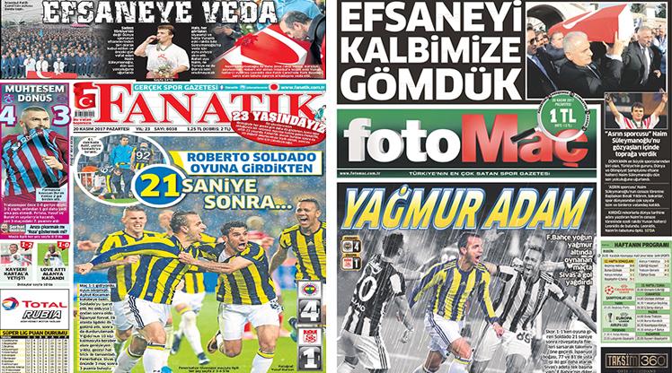 20 Kasım 2017 gazete manşetleri