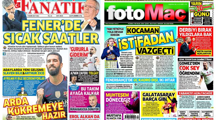 7 Kasım gazete manşetleri