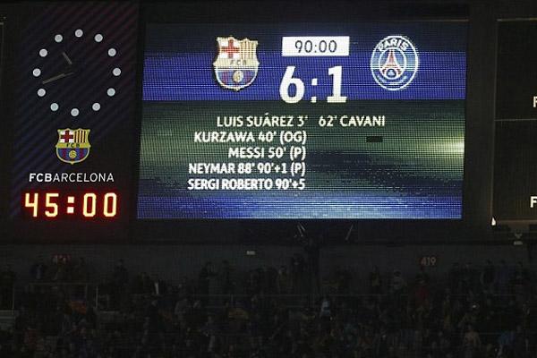 İşte Barcelona - Paris Saint Germain maçından en güzel kareler...