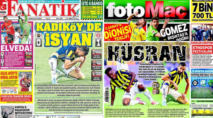 14 Mayıs 2017 gazete manşetleri