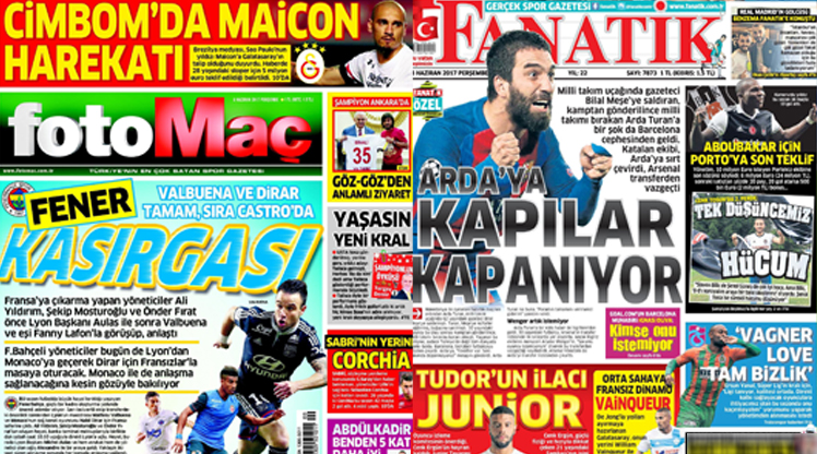 8 Haziran gazete manşetleri