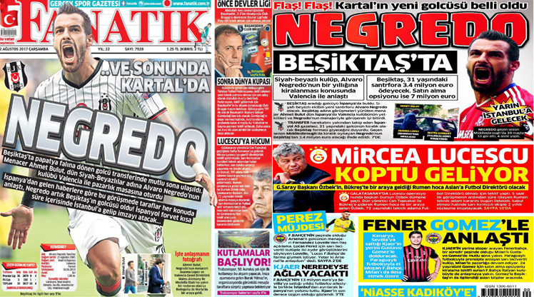 2 Ağustos gazete manşetleri