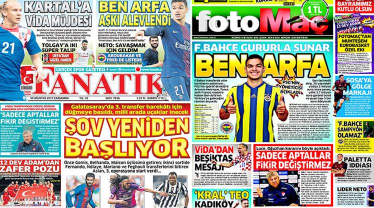 30 Ağustos gazete manşetleri