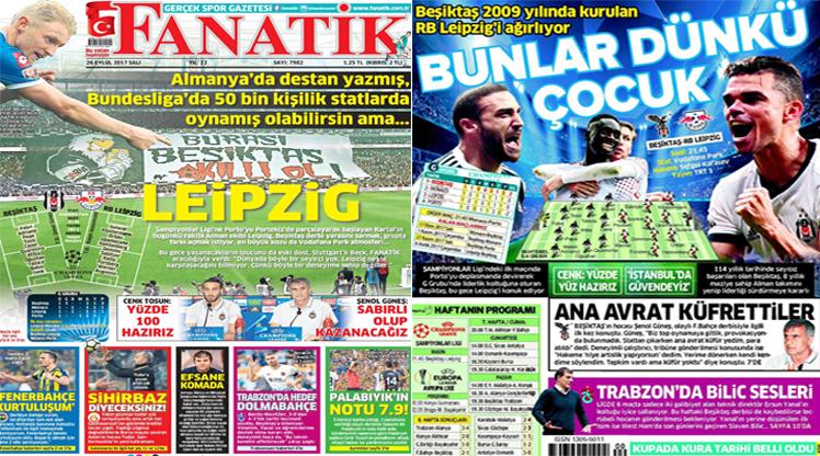 26 Eylül 2017 gazete manşetleri