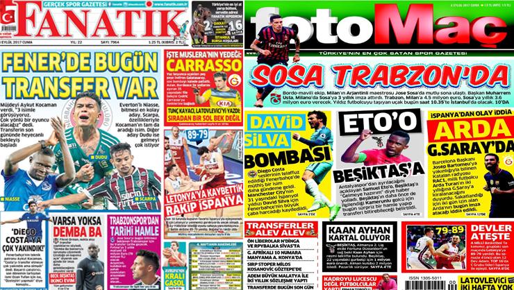 8 Eylül 2017 gazete manşetleri