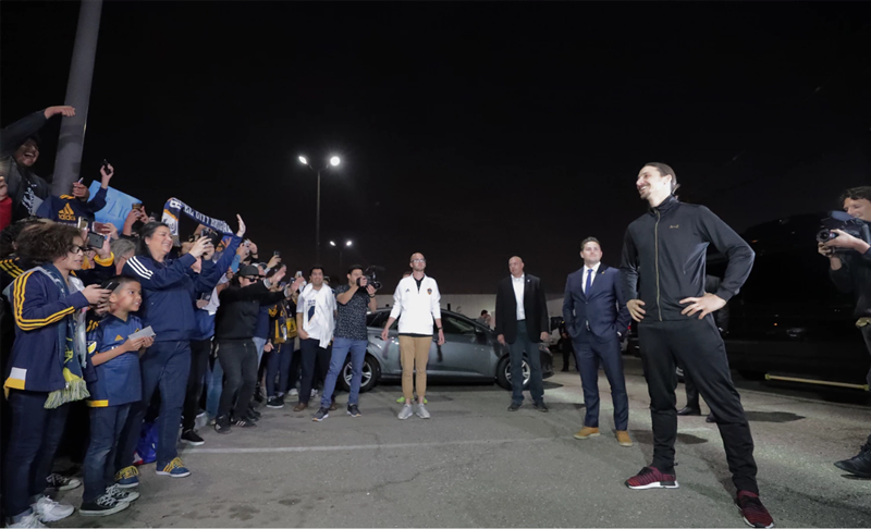 Zlatan'a görkemli karşılama