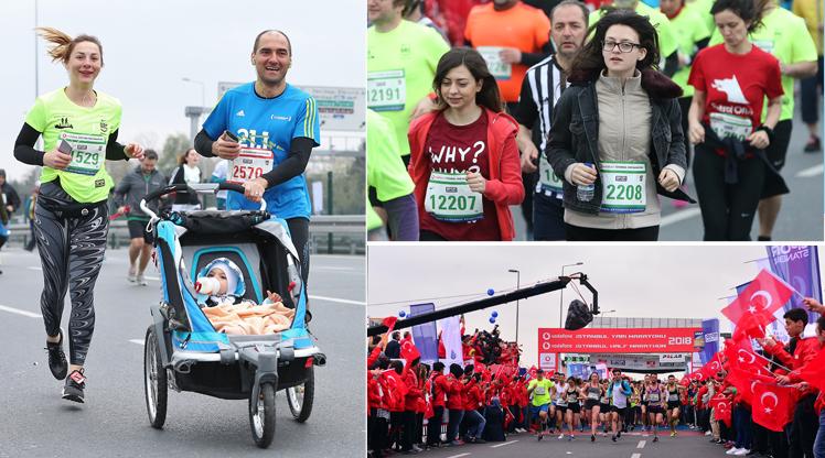 İstanbul Yarı Maratonu'ndan ilginç kareler