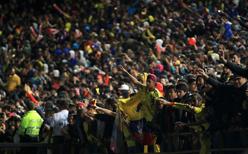 Kolombiyalılar takımlarını uğurladı