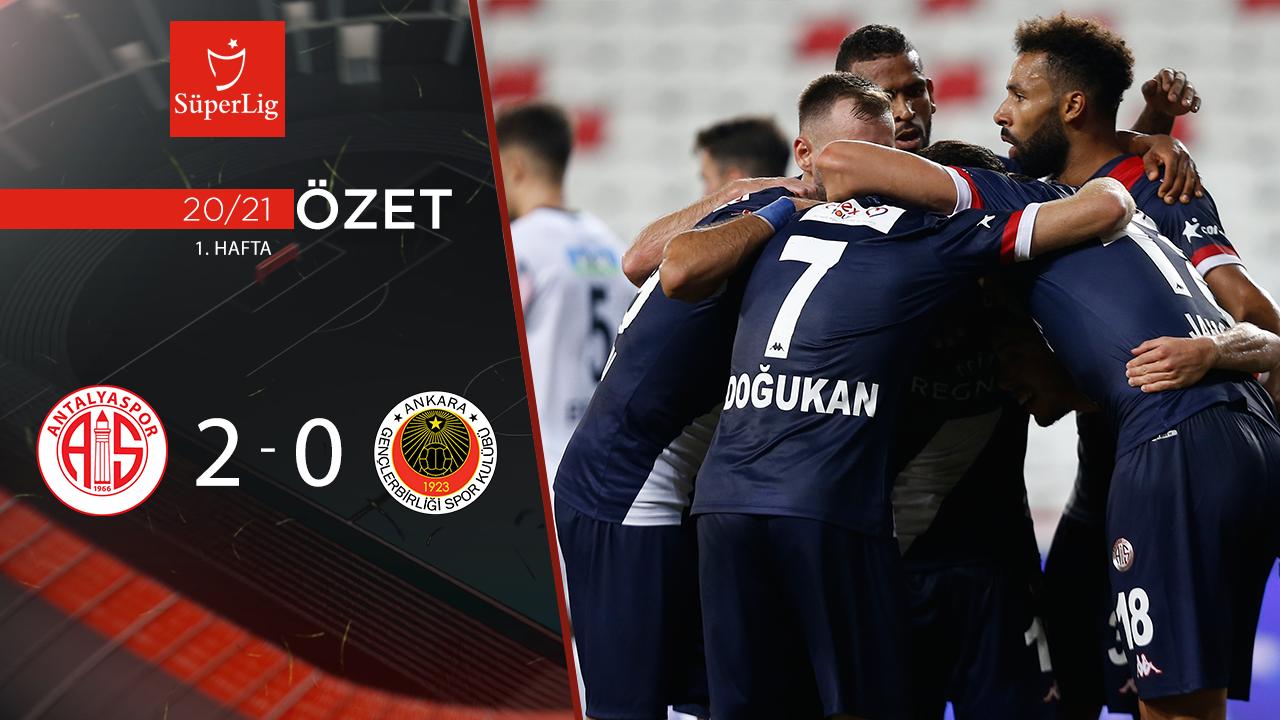 Fraport TAV Antalyaspor Gençlerbirliği maç özeti