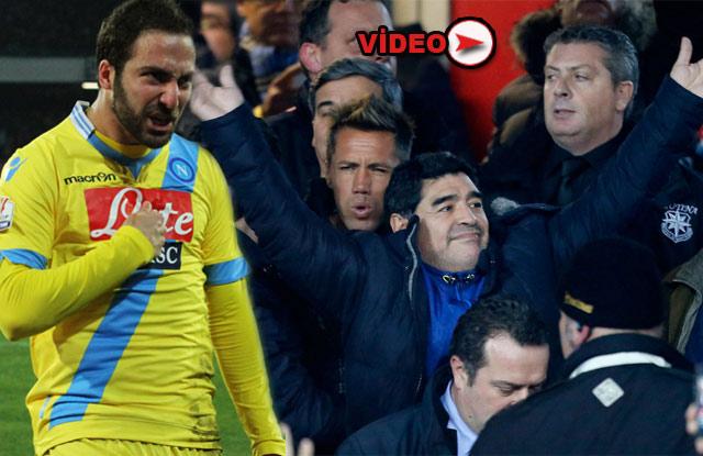 Higuain attı, Maradona çıldırdı!