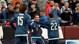 Arjantin Messi'siz de kazandı (ÖZET)