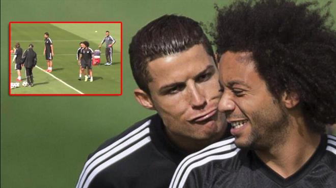 Ne yaptın Ronaldo? Önce güldü sonra öptü!