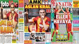 Manşetlere Galatasaray damgası!
