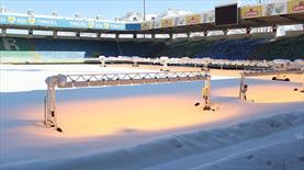 Çaykur Rizespor-Mersin İdmanyurdu maçına kar engeli