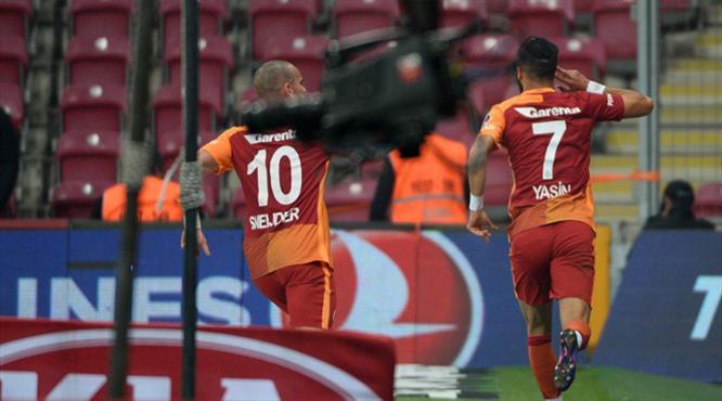 Galatasaray'ın beraberlik golü Yasin Öztekin'den