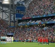 Euro 2016'da İstanbul için saygı duruşu!