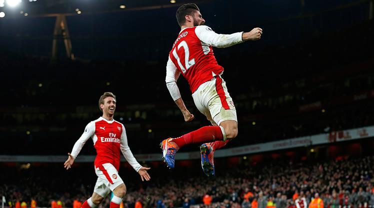 Arsenal zirve takibini bırakmıyor! (ÖZET)