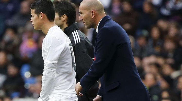 Zidane'dan flaş Rodriguez açıklaması