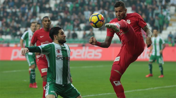 Atiker Konyaspor - Antalyaspor: 1-1 (ÖZET)
