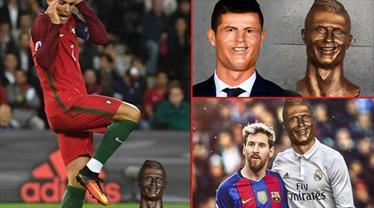 Ronaldo'nun büstü sosyal medyayı karıştırdı!