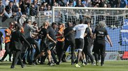 Olaylı Bastia-Lyon maçı yarıda kaldı!