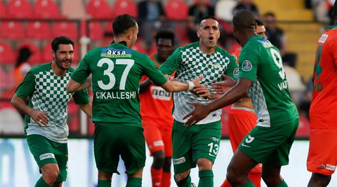 Akhisar Belediyespor - Aytemiz Alanyaspor: 3-0 (ÖZET)