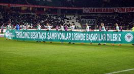 Atiker Konyaspor'dan Beşiktaş'a jest