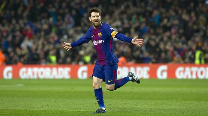 Messi'nin rekor gecesinde gol şov (ÖZET)