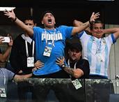 Messi golünü attı Maradona'yı coşturdu! (GALERİ)
