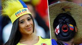Kolombiya - İngiltere maçından kareler