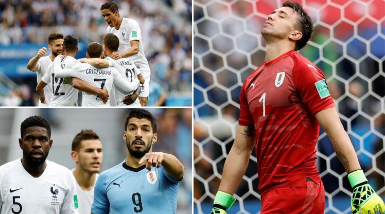 İşte Uruguay - Fransa maçından kareler...