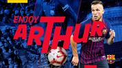 Arthur resmen Barcelona'da