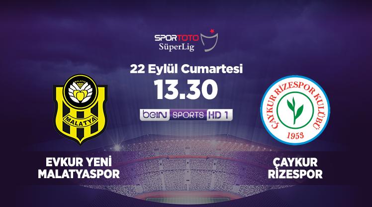 Evkur Yeni Malatyaspor - Çaykur Rizespor (CANLI)