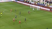 Sivassporlu oyuncuların penaltı beklediği an