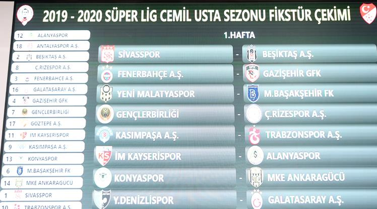 Süper Lig'de yeni sezon fikstürü çekildi