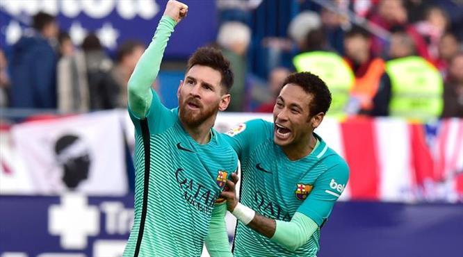 Dev maça Messi damgası