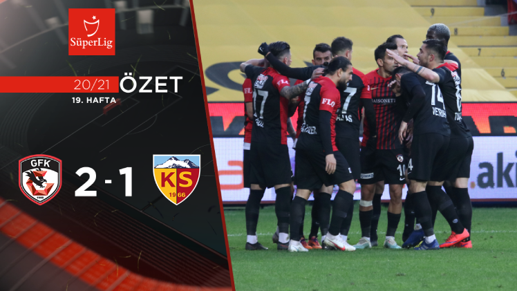 Gaziantep FK Hes Kablo Kayserispor maç özeti