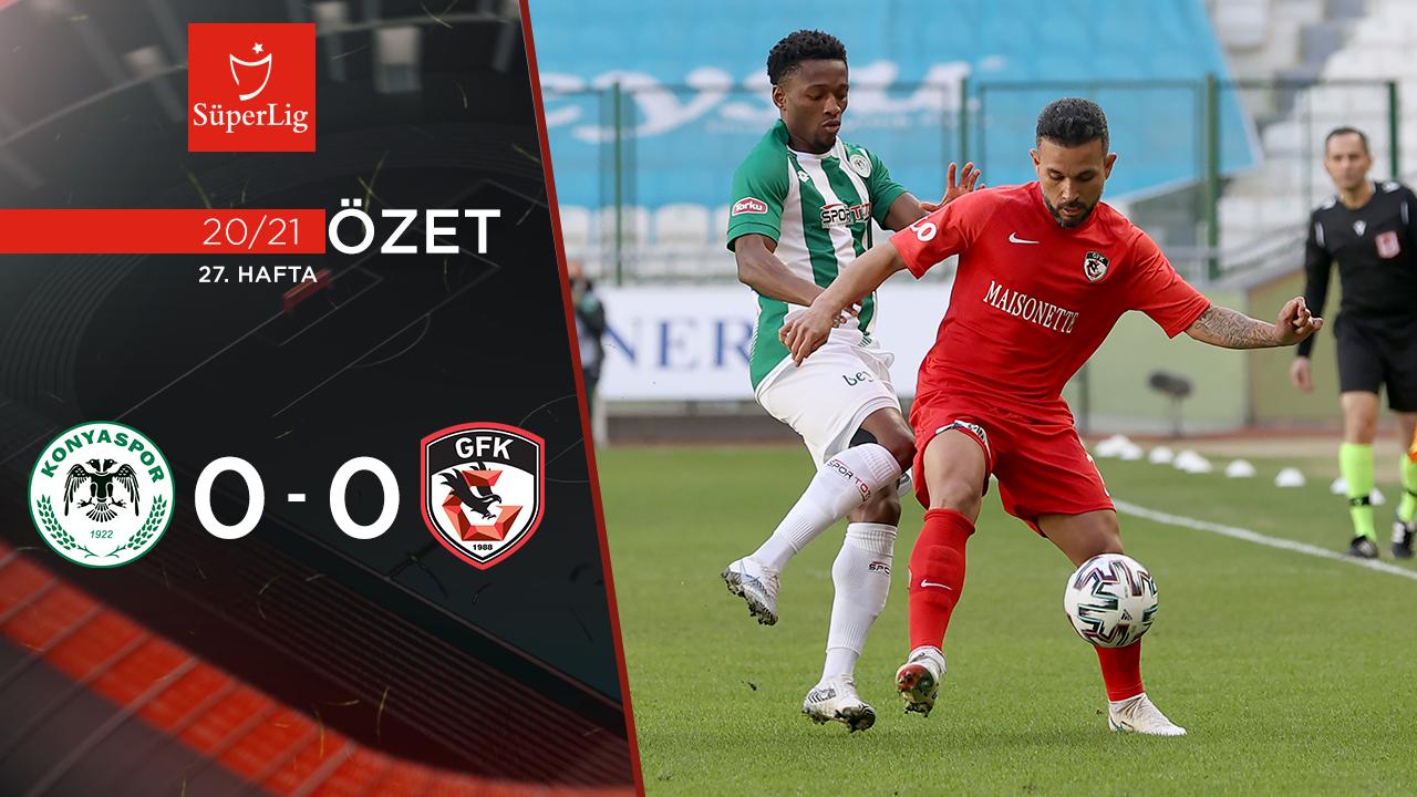İttifak Holding Konyaspor Gaziantep FK maç özeti