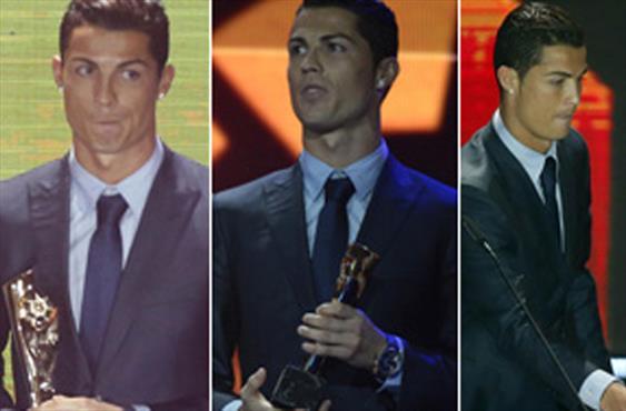 Ronaldo ödüllerde de hat-trick yaptı!