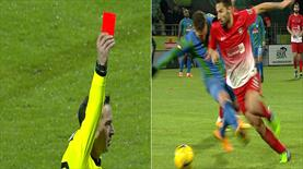 Son dakikalarda 2 kırmızı kart