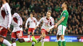 Eriksen'den hat-trick şov! Danimarka Rusya biletini kaptı