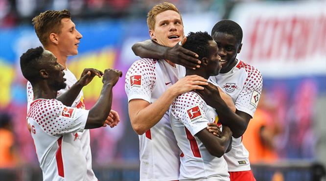 RB Leipzig'ten gol şov! Perdeyi Bruma kapattı