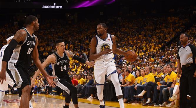 Golden State Spurs'ü farklı geçti (ÖZET)