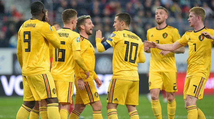 Hazard coştu, Belçika şov yaptı