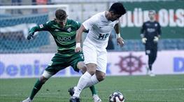 Bursaspor'un iç saha serisi sona erdi
