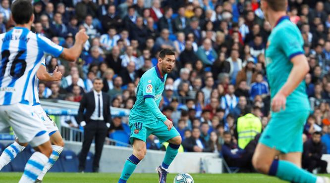 Barça'ya Real Sociedad freni