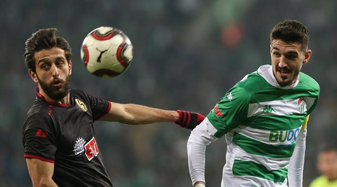 Bursaspor: 0 - Eskişehirspor: 1 (ÖZET)