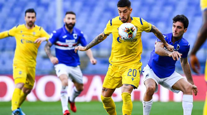 Sampdoria'nın 3 puanı Quagliarella'dan (ÖZET)